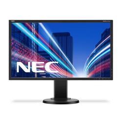 NEC MultiSync E223W (22 inch) LED Backlit LCD Monitor 1000:1 250cd/m2 1680x1050 5ms DisplayPort/DVI-D (Black)