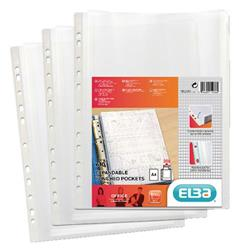 Elba Expanding Punched Pockets Top Opening A4 (10 Pack) 100080753