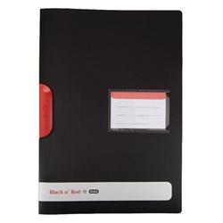 Elba Black n Red Polypropylene Clip File A4  (5 Pack) 400063613