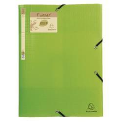 Exacompta Forever Elasticated 3 Flap Folder Lime (15 Pack) 551573E