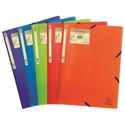 Exacompta Forever Elasticated 3 Flap Folder Assorted (15 Pack) 551570E
