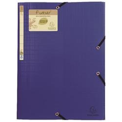 Exacompta Forever Elasticated 3 Flap Folder Blue (15 Pack) 551572E