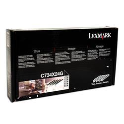 Lexmark Lexmark Photoconductor Page Life 80000 pp Black/Cyan/Magenta/Yellow Ref 0C734X24GG [Pack 4]