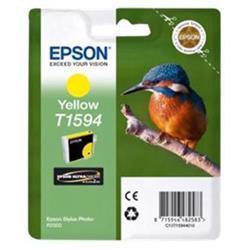 Epson T1594 Inkjet Cartridge Kingfisher 17ml Yellow Ultra Chrome Ref C13T15944010