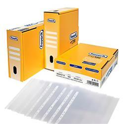 Buste a foratura universale Linear Favorit - 22x30 cm - goffrata - spessore medio - trasparente - conf. 500