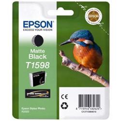 Epson T1598 Inkjet Cartridge Kingfisher 17ml Matte Black Ultra Chrome Ref C13T15984010