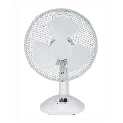 5 Star Facilities Desk Fan 9 Inch Oscillating Tilt & Lock 2-Speed H320mm White