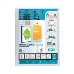 Elba Polyvision Display Book Polypropylene 20 Pockets A4 Clear Ref 100206088