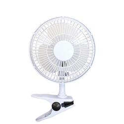 5 Star Facilities Clip-On Fan with Tilt for Desk or Shelf 2-Speed 15W White