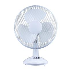 5 Star Facilities Desk Fan 12 Inch Oscillating with Tilt & Lock 3-Speed H480mm White
