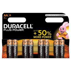 Duracell Plus Battery Alkaline 1.5V AA Ref MN1500B8 - Pack 8
