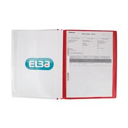 Elba Report File Capacity 160 Sheets Clear Front A4+ Red Ref 400055038 (Pack 25)
