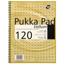 Pukka Pad Vellum Notebook Wirebound Perforated Ruled Margin 80gsm 120pp A4 Vellum Ref VJM/1 - Pack 3