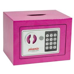 Phoenix Compact Home Office SS0721E Pink Security Safe with Electronic Lock & Deposit Slot Ref SS0721EPD