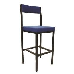 Jemini Padded High Stool - Blue Ref KF03310