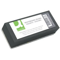 Cancellino magnetico per lavagne bianche Q-Connect nero 12x3x5 cm KF01973