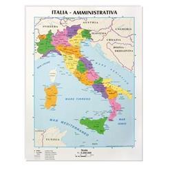 Cartina A4 Italia - CWR - Politica/Fisica - conf. 10