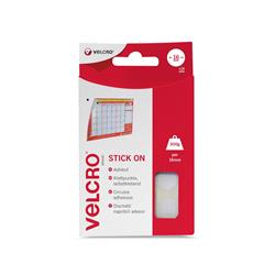 VELCRO  Brand (16mm) Stick On Coins  White (Pack of 16 Sets) Ref RY07118