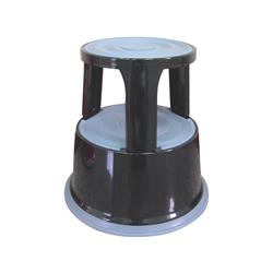 Sgabello tondo Q-Connect 43 cm con rotelle in metallo nero KF04845