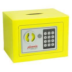 Phoenix Compact Home Office SS0721E Yellow Security Safe with Electronic Lock & Deposit Slot Ref SS0721EYD
