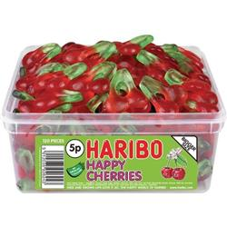 Haribo Giant Happy Cherries Tub (Single) Ref NWT1639