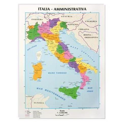 Cartina Italia Foto.Cartina A4 Italia Cwr Politica Fisica Conf 10 09343 8004957093438 Euroffice