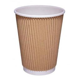 CPD (12oz) Kraft Ripple Hot Cup (Pack of 25) Ref 511053