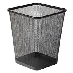 Osco (29cm) Wire Mesh Square Waste Bin Regular (Black) Ref WBSQ25-BLK