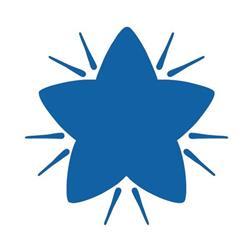 Colop (22 x 22mm) Motivational Stamp Blue Star (Single) Ref 147164