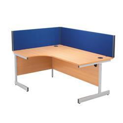 Jemini 1400mm Blue Straight Desk Screen Ref KF73915