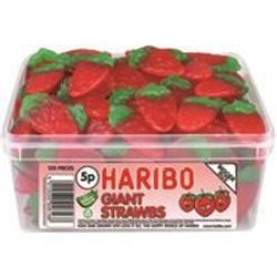 Haribo Giant Strawbs Sweets Drum Ref NWT1638