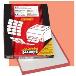 Etichette autoadesive Markin - per stampanti inkjet, laser e fotocopiatrici - 63,5x46,6mm - conf. 1800