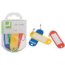 Targhette portachiavi Q-Connect 9x5,8 cm plastica colori assortiti conf. da 6 - KF02036