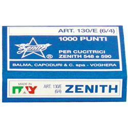 Punti metallici ZENITH 130/E 6/4  scatola da 1000 - conf. 10 - 0311301401
