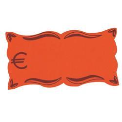 Targhette segnaprezzi Scatto - fluo - 9x5.2 -  euro - conf. 50