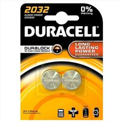 Duracell Lithium Battery Pack of 2 Ref DL2032B2
