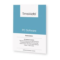 TimeMoto by Safescan TM PC Software for Time & Attendance System Unlimited Users Ref 139-0601