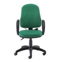 Calypso Ergo Chair With Fixed Arms - Green Ref CH2810GN+AC1002