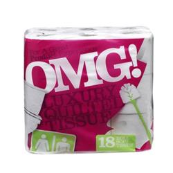 OMG Luxury Toilet Rolls (Pack of 18) Ref 1102077