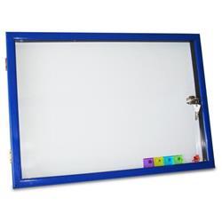 Bacheca per interno Arda - Porta in Plexiglass con Cornice plastica 2Chiavi 4 Magneti 37x52 cm.