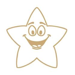 Colop (22 x 22mm) Motivational Stamp Gold Star (Single) Ref 147163