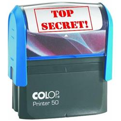 Colop Printer 50 (69 x 30mm) Word Stamp TOP SECRET Red Ink (Single) Ref C144791TOP