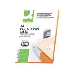 Etichette in carta Q-Connect - 70x50,8mm - bianco - 15 etichette per ff - 100 fogli