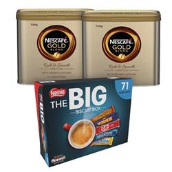 Nescafe Gold Blend Coffee 750g NL819849 (2 Pack) NL819849 FOC Nestle Big Biscuit Box 12391006