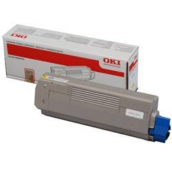 Oki C610 Laser Toner Cartridge Page Life 6000pp Yellow Ref 44315305
