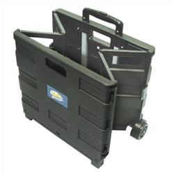 Foldable Crate Trolley 35kg Capacity Black & Silver