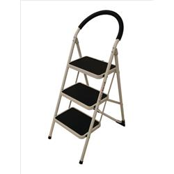 Image of Step Ladder 3 Tread White Frame - SLI359294