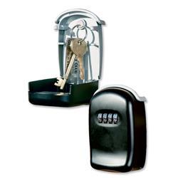 Phoenix KS1 Key Cabinet with Combination Lockable Wall Mountable Black Ref KS1