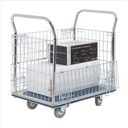 Platform Truck Chrome Plated Mesh Panels Capacity 300kg
