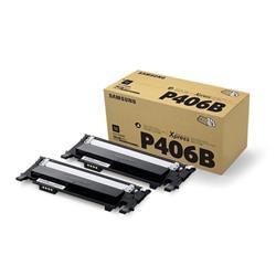 Samsung Laser Toner Cartridge Page Life 1500pp Black Ref CLT-P406B/ELS [Pack 2]